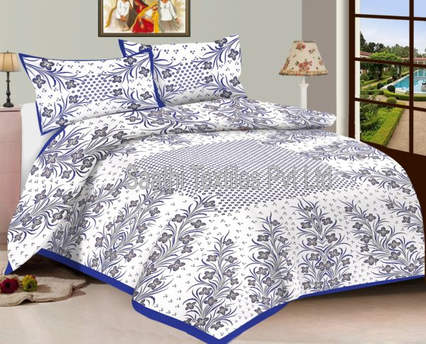 Cotton Printed Double Bed Sheets With Pillow Covers U2013 Saathi