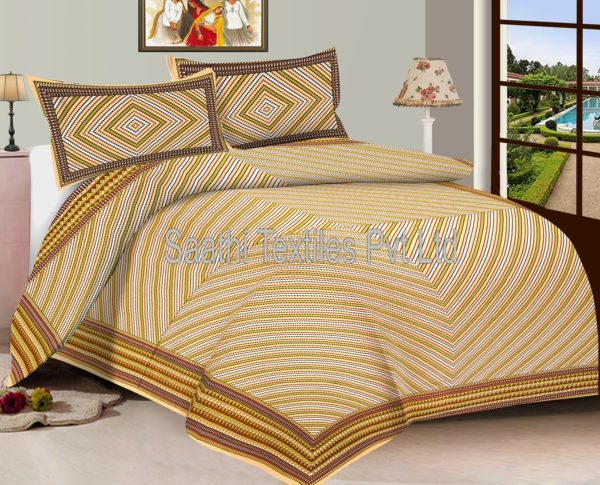 Latest Designer Bed Sheets 100% Cotton Printed