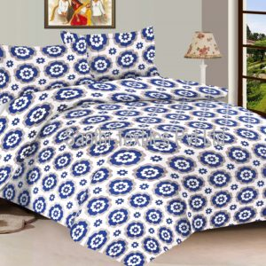 Jaipuri Printed Bed Sheets Pure Cotton With Pillow Covers