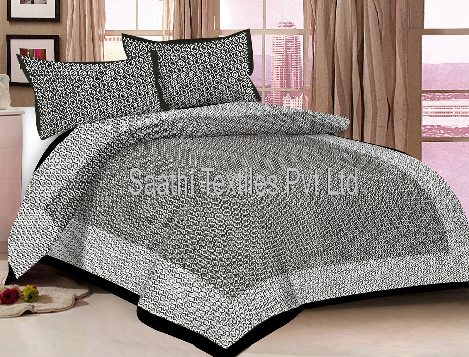 Printed Jaipuri Double Bed Sheets