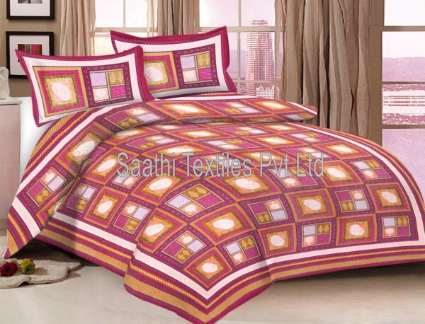 Superbe Rajasthani Printed Pure Cotton Bed Sheets. DB135C1. DB135C2. DB135C3
