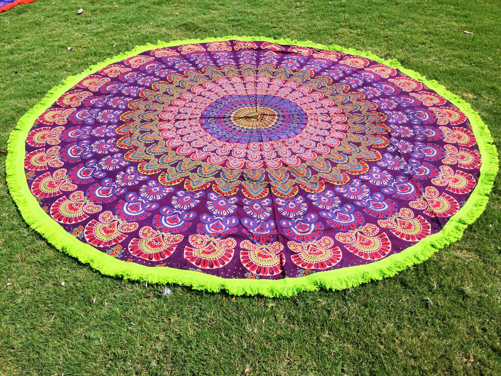 letter mandala cover towel up indian mat yoga pin round summer shawl new beach