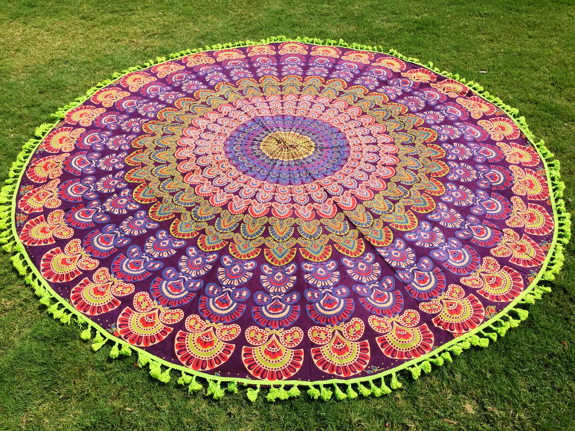 beach tusal yoga tapestries traditional cm throws product mat round diameter