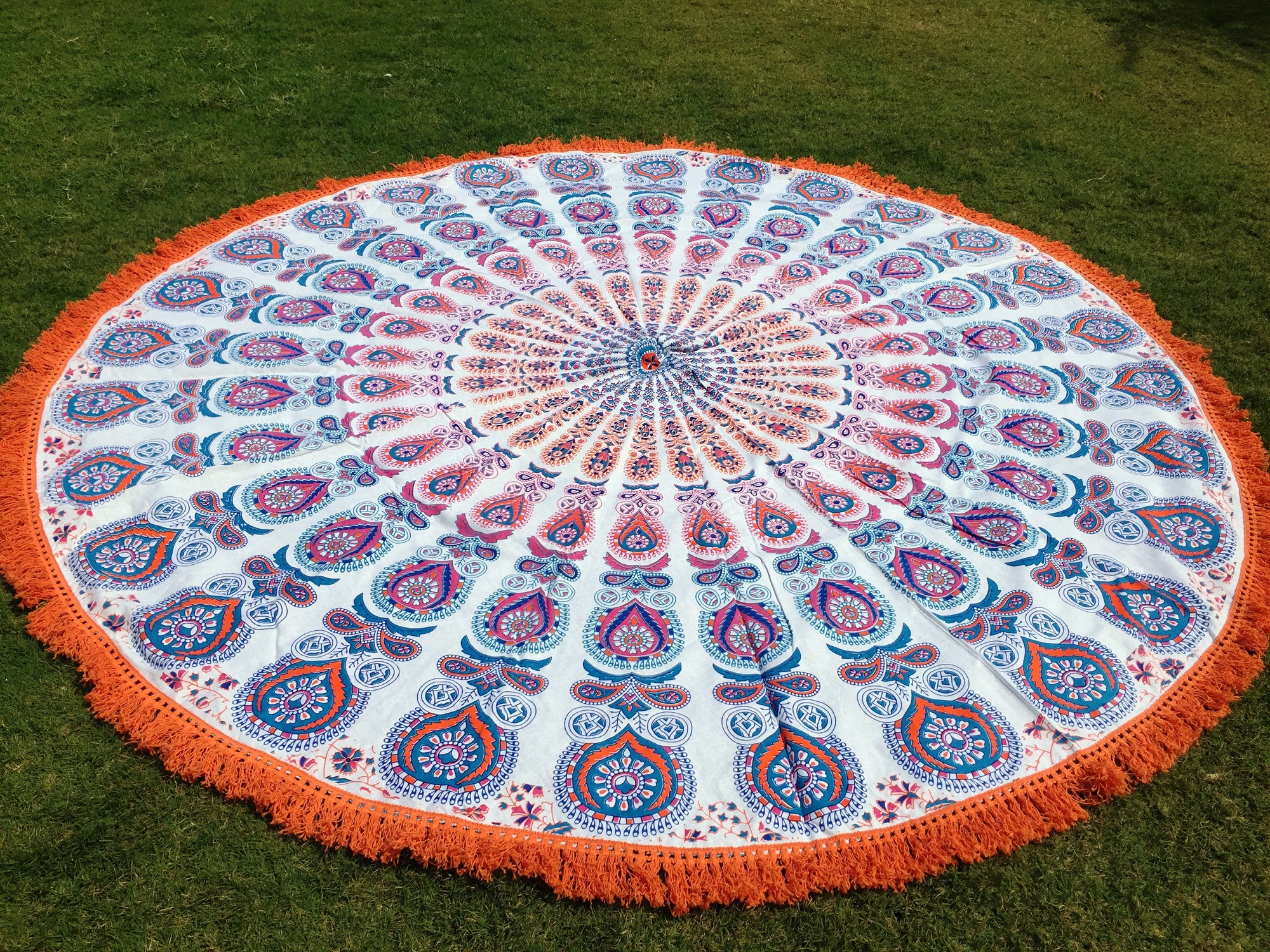 towel hanging wall tapestry shop beach round yoga indian mat shawl floral bohemia